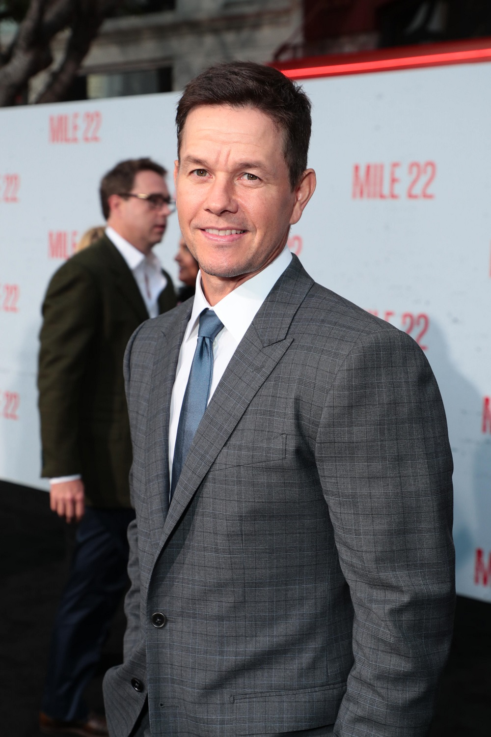 Mark Wahlberg attends STXfilms' MILE 22 premiere at Westwood Village Theater in Los Angeles, CA.