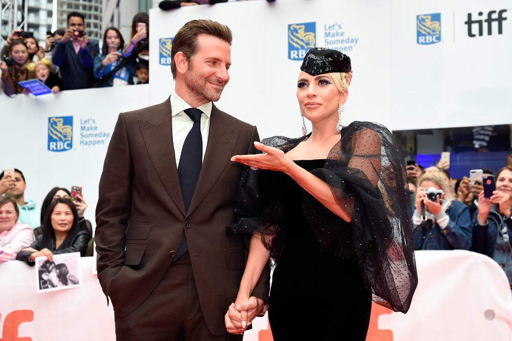 "TORONTO, ON - SEPTEMBER 09:  Bradley Cooper (L) and Lady Gaga attends the ""A Star Is Born"" premiere during 2018 Toronto International Film Festival at Roy Thomson Hall on September 9, 2018 in Toronto, Canada.  (Photo by Kevin Mazur/Getty Images)"